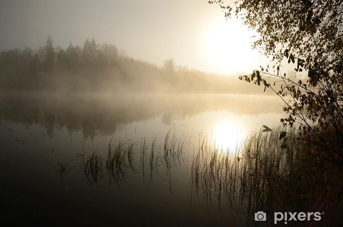 Vinilo Pixerstick Mañana de niebla sobre el lago - Temas