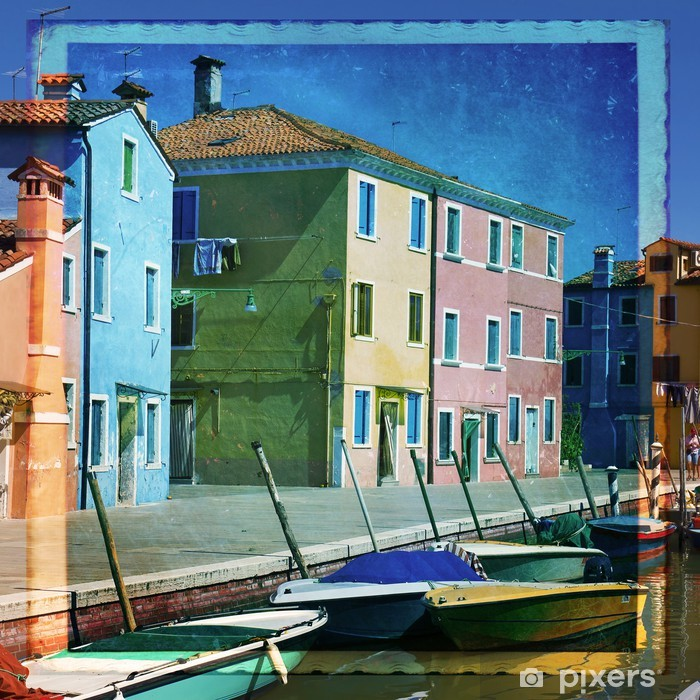 Burano - Venezia Vinyl Wall Mural - European Cities