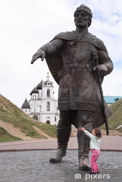 Naklejka Pixerstick Założycielem miasta Moskwy jury Dołgorukiego i dziewczynka - Azja