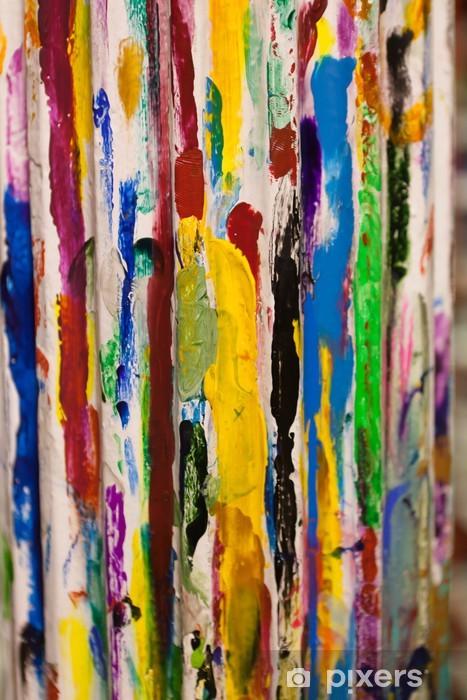 Papier peint vinyle Peinture sur poteau - Arrière plans