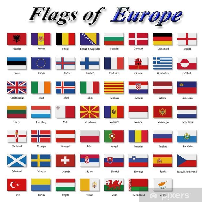 Verbazingwekkend Sticker Vlaggen van Europa • Pixers® - We leven om te veranderen AW-61