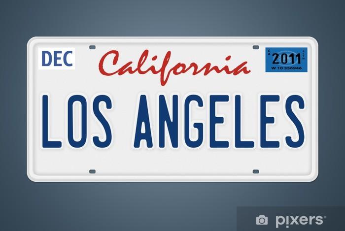Papier peint vinyle Los Angeles, CA plaque d'immatriculation - Signes et symboles