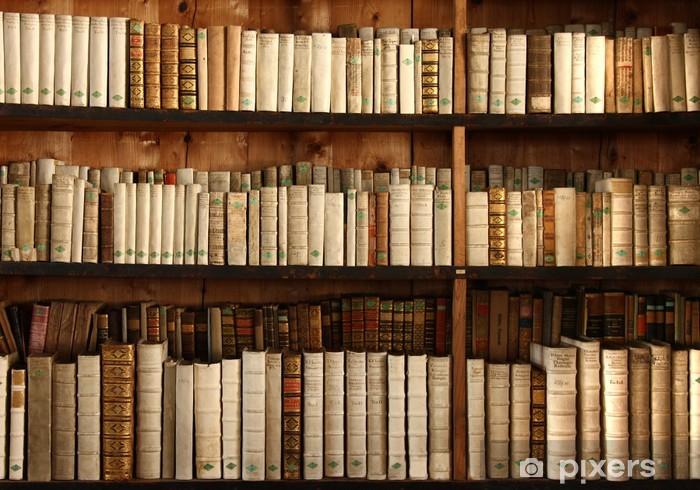 vinyl fotobehang boekenkast met oude boeken gezondheid en geneeskunde
