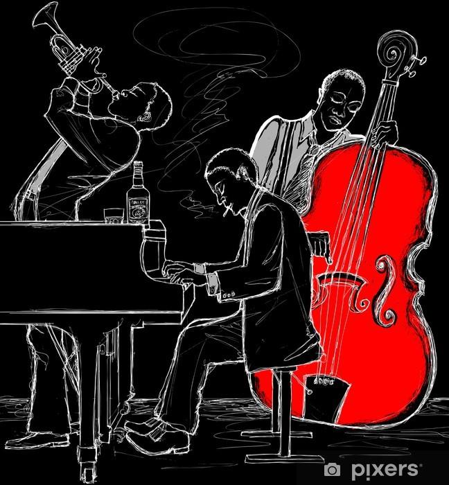 Naklejka Pixerstick Zespół jazzowy - Jazz