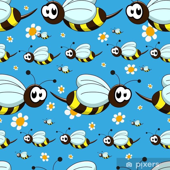 Naklejka Pixerstick Jednolite wzór z pszczół - Tła