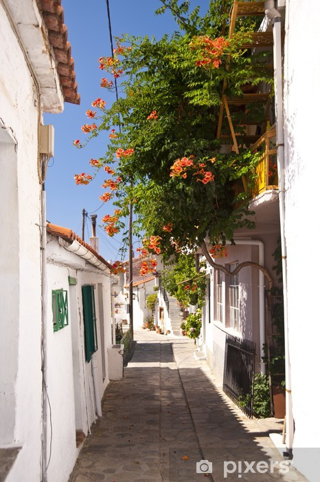 Fototapeta winylowa Ulica sceny w Manolates na Samos - Tematy