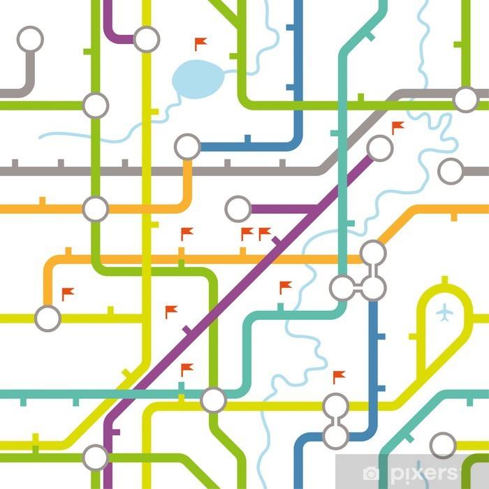 Subway Map Live.Subway Map Texture Wall Mural Vinyl