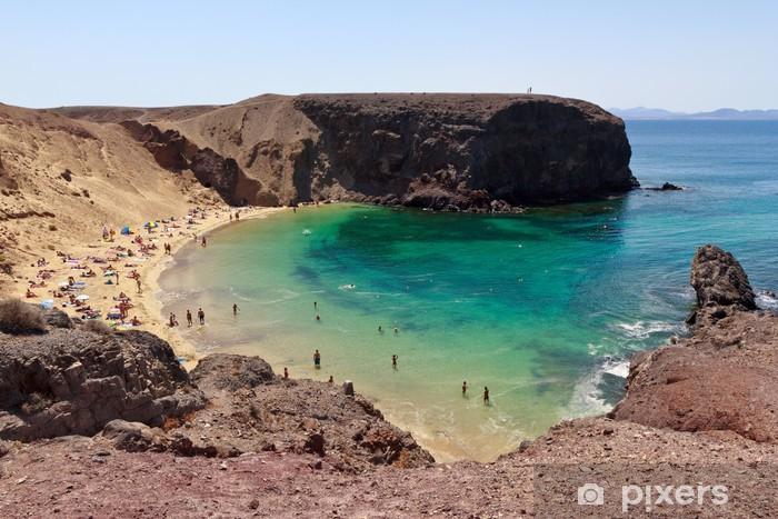 Fototapeta winylowa Lanzarote, Papagayo Beach - Wakacje