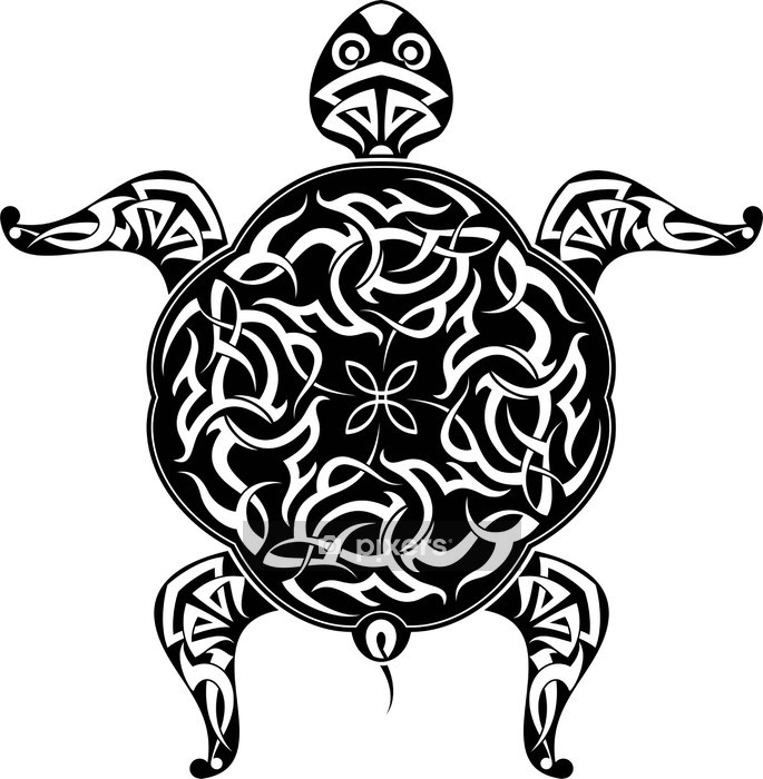 Muursticker Tattoo Schildpad