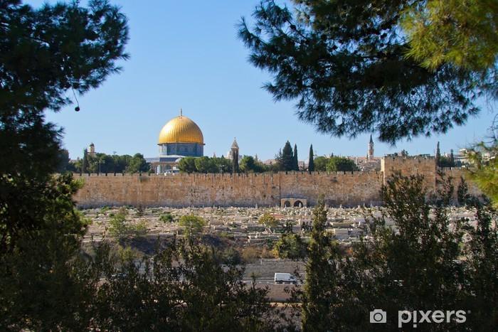 Sticker Pixerstick Dôme du Rocher, à Jérusalem Vue du mont des Oliviers - Industrie lourde