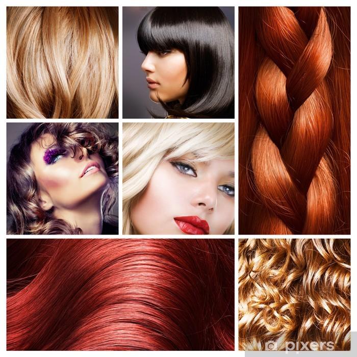 Naklejka Pixerstick Collage włosów. fryzury - Przeznaczenia