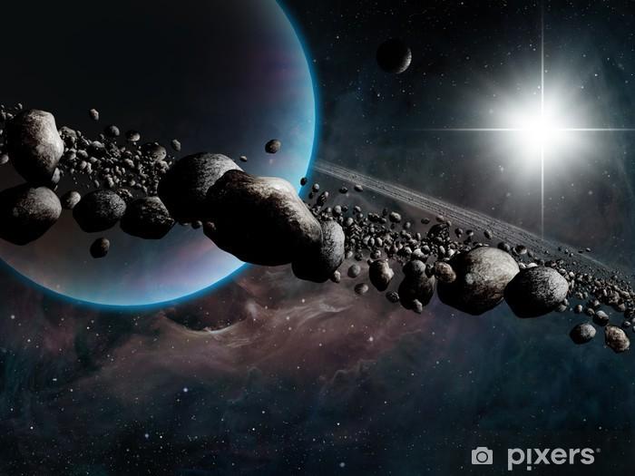 Papier peint vinyle Ringed Planet - Univers