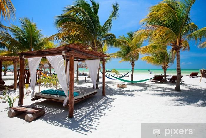 Pixerstick Sticker Perfect tropisch strand - Vakantie