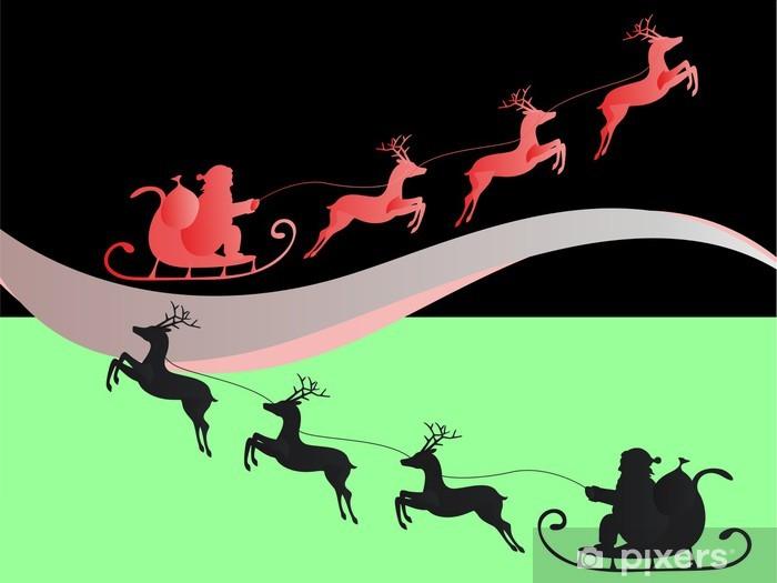 151ba250fb4f3 Vinilo Pixerstick Papá Noel con el trineo de renos • Pixers ...