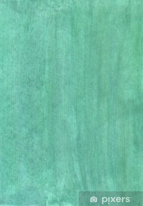 Naklejka Pixerstick Abstrakcyjne tło całkowicie zielone akwarela na papierze - Sztuka i twórczość