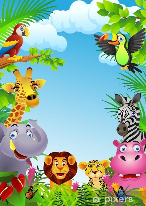 Eläin sarjakuva Vinyyli valokuvatapetti - Preschooler