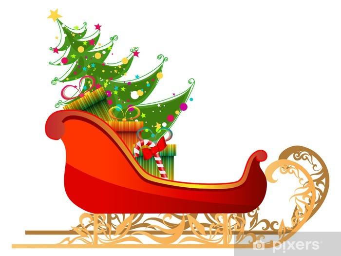 Immagini Slitta Di Babbo Natale.Carta Da Parati Bella Illustrazione Dettagliata Di Slitta Di Babbo Natale Con I Regali Di Pixers Viviamo Per Il Cambiamento