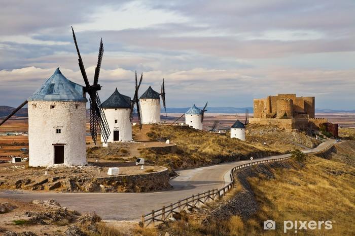 Vinyl Fotobehang Windmolens van Don Quichot-traditionele Spanje - Windmolens