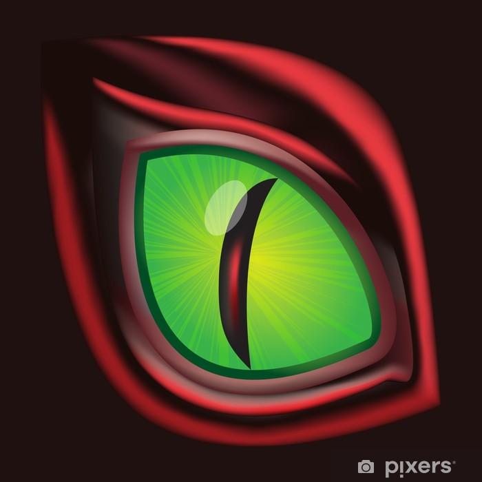 Naklejka Pixerstick Oko Smoka - oryginalna realistyczne ilustracji wektorowych - Fikcyjne zwierzęta