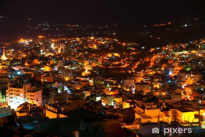 Pixerstick Dekor Betlehem, Palestina, Israel: natten utsikt till staden - Industri