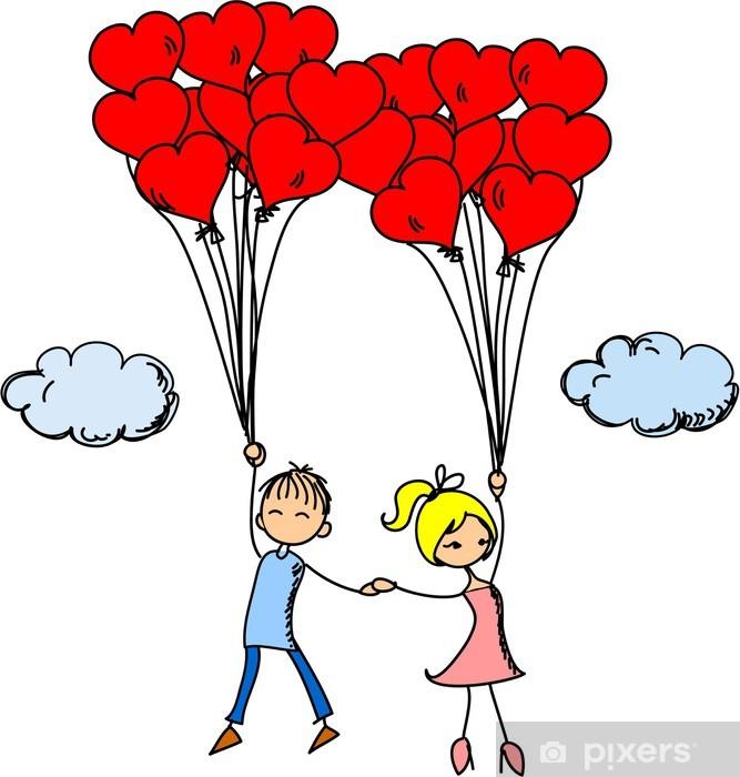 48ad584b1de4f0 Fotobehang Meisje en jongen in de liefde • Pixers® - We leven om te ...