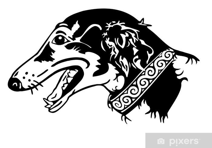 Nálepka Pixerstick Barsoi Windhund - Savci