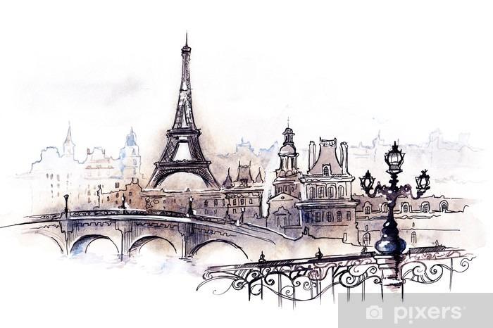 Papier peint vinyle Paris (série C) - Styles
