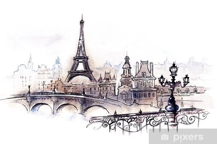 Paris (series C) Washable Wall Mural - Styles