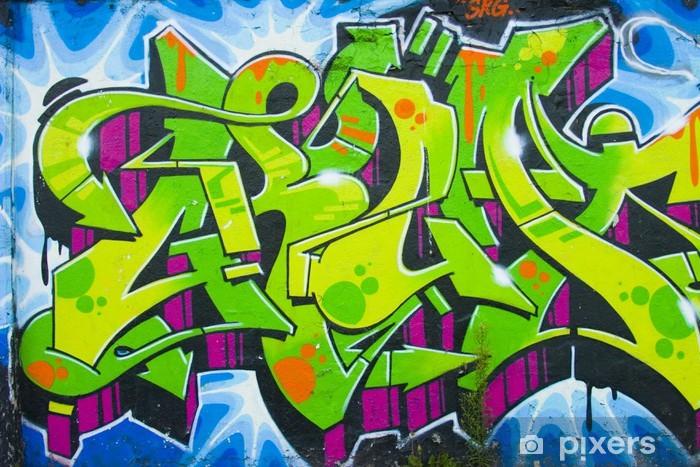 papier peint graffiti 005 pixers nous vivons pour changer. Black Bedroom Furniture Sets. Home Design Ideas