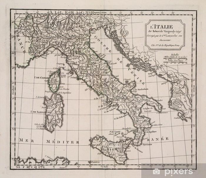 Vinilo Pixerstick Antiguo mapa de Italia - Temas
