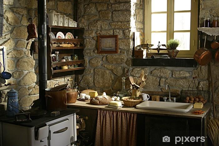 Carta da Parati Vecchia cucina • Pixers® - Viviamo per il cambiamento