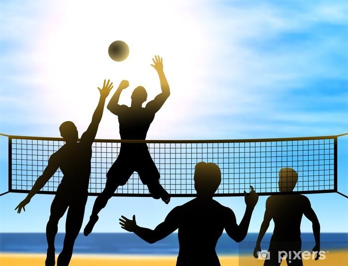 Vinilo Pixerstick Voleibol de verano - Voleibol