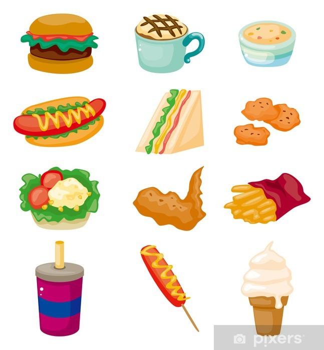 Naklejka Pixerstick Cartoon fast food icon - Ryż