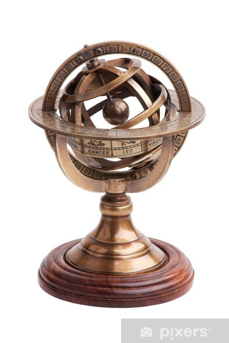 Antique Brass Armillary Sphere On A, Antique Armillary Sphere