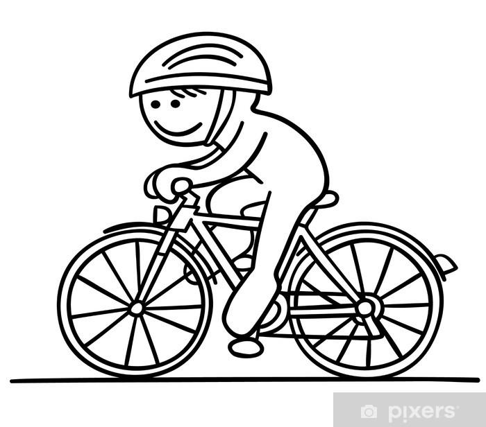 fototapeta rowerzysta postać podróżuje • pixers®  Żyjemy