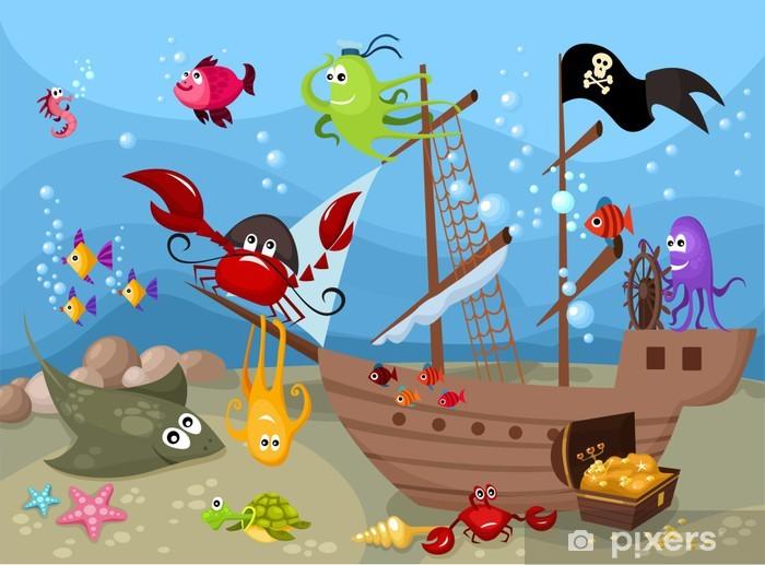 Carta da Parati in Vinile Vita di mare - Temi
