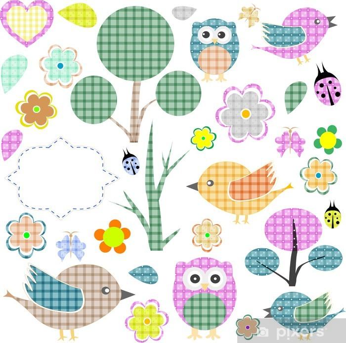 Plakat Zestaw naklejek włókienniczych przyrody - Dla przedszkolaka