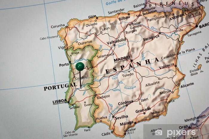Iberian peninsula Map Sticker - Pixerstick