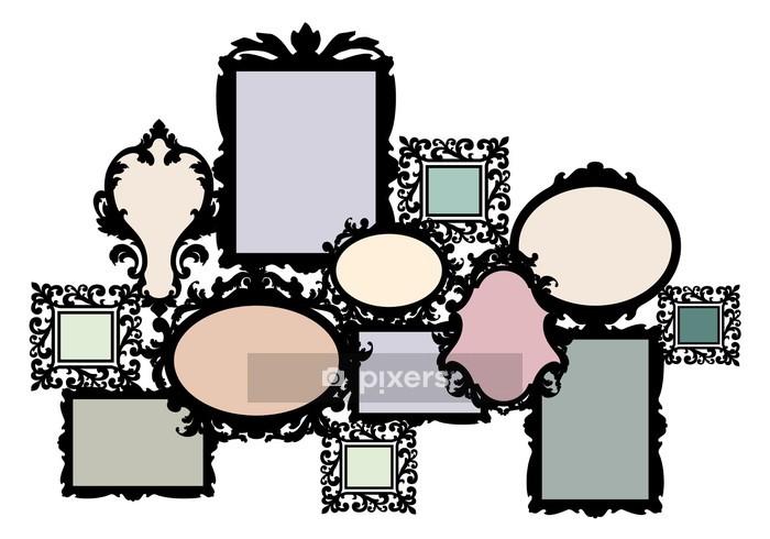 Vinilo para Pared Imagen en blanco conjunto de marcos, vector - Vinilo para pared