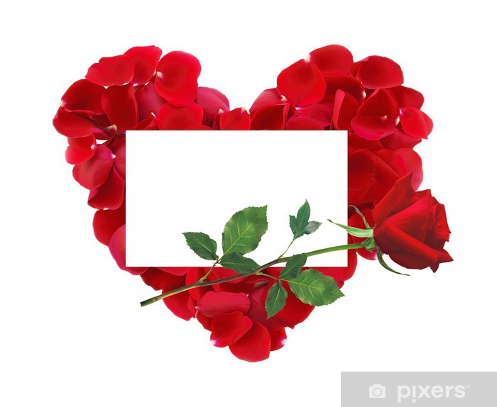 Carta Da Parati Bel Cuore Di Petali Di Rose Rosse Rosa Rossa Fiori