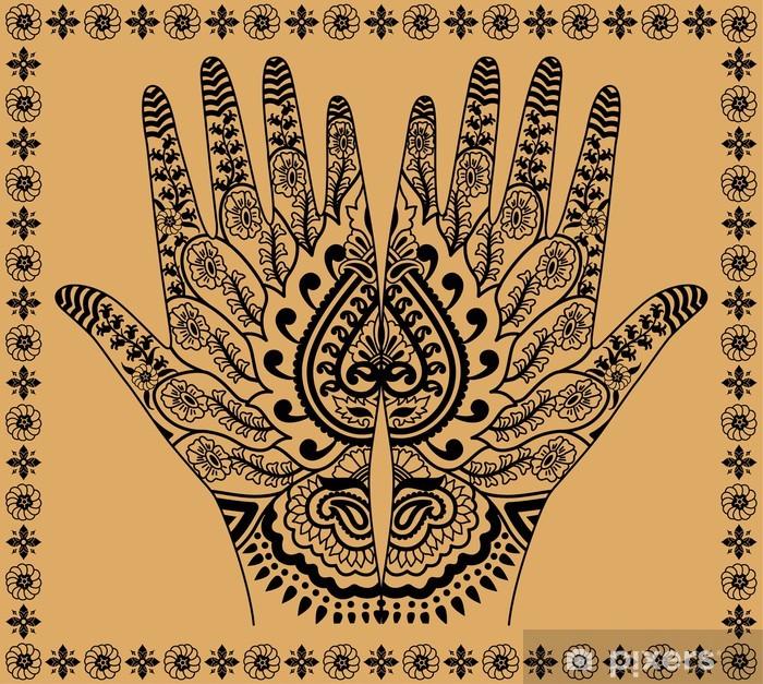Papier peint vinyle Woman hands - Asie