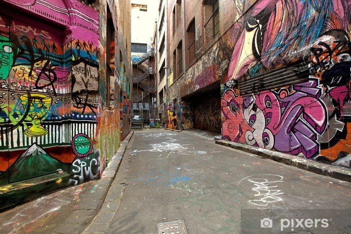 Fototapeta winylowa Graffiti alley - Tematy