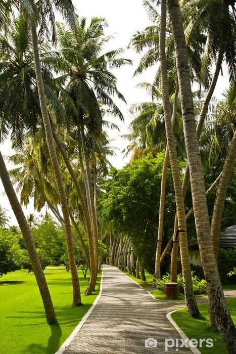 Nálepka Pixerstick Silnice na tropickém ostrově - Prázdniny