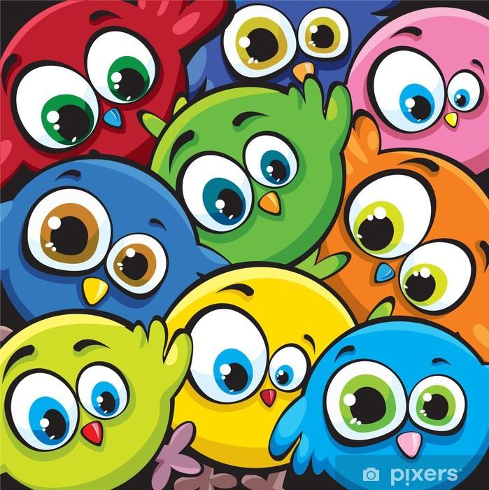 Fototapeta winylowa Ptaki kreskówek - Dla nastolatki