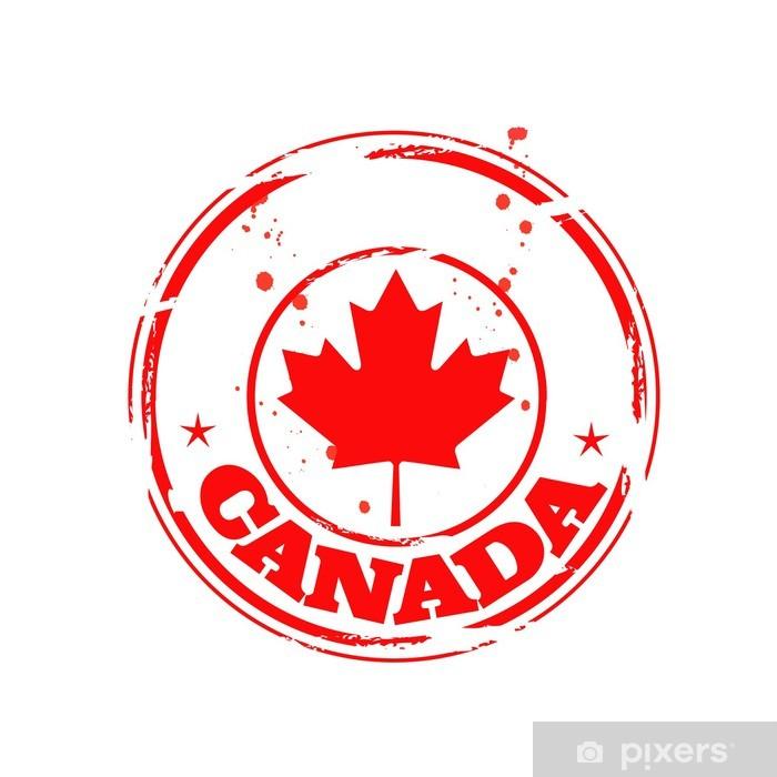 Vinilo Pixerstick Timbre Canadá - América