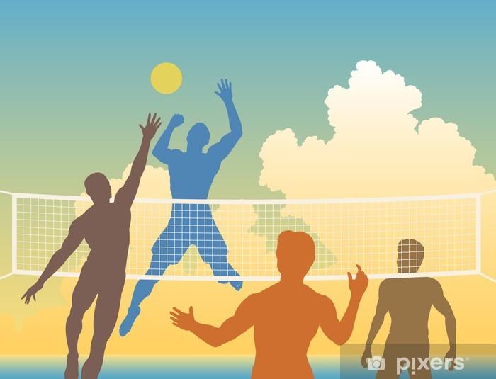 Pixerstick Sticker Volleyball - Volleybal