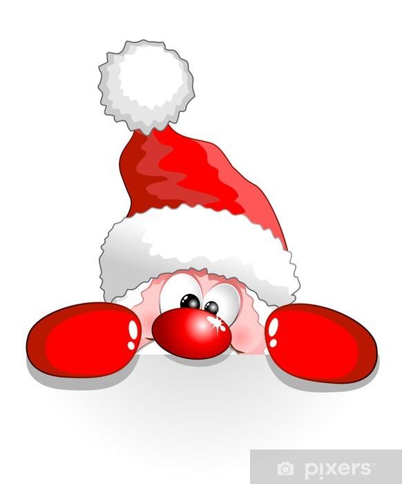 Adesivi Babbo Natale.Adesivo Babbo Natale Auguri Buffo Funny Santa Claus Sfondo Del Fumetto Pixers Viviamo Per Il Cambiamento