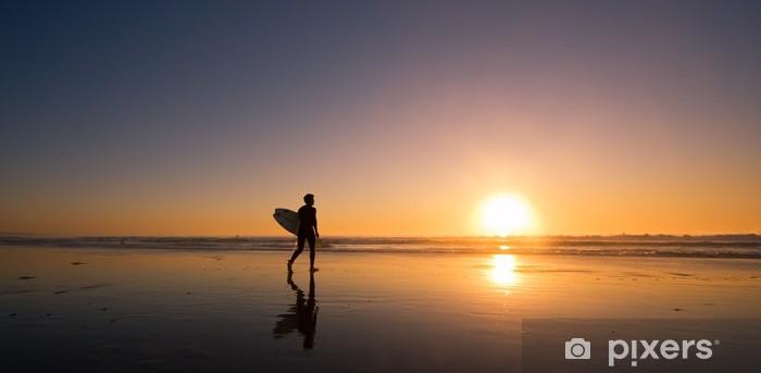 Fototapeta samoprzylepna Sunset Surfer - Sporty wodne