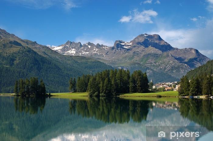 Naklejka Pixerstick Alpy w Szwajcarii - Silvaplana - St Moritz - Europa
