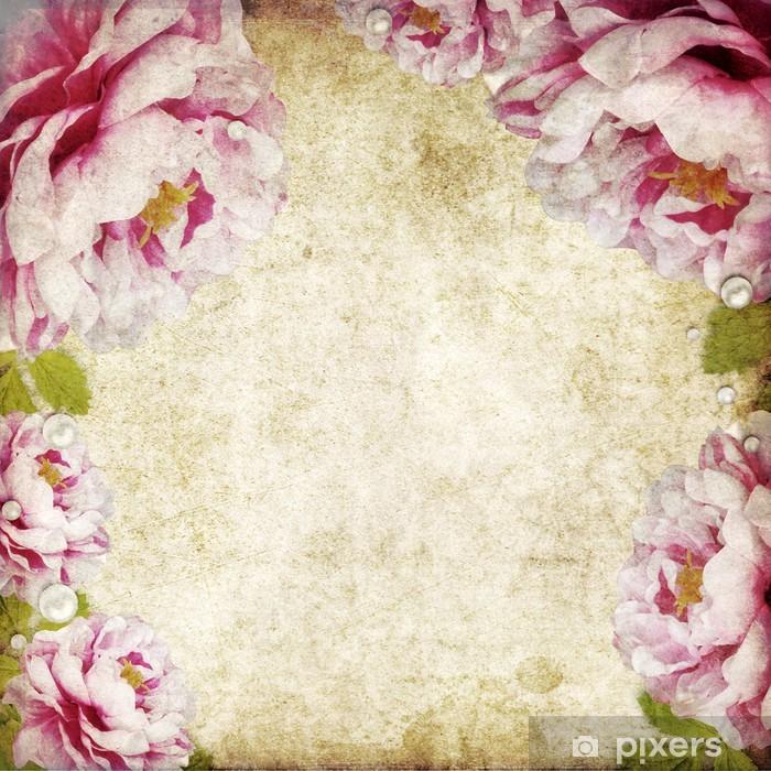 Vinyl-Fototapete Retro Floral Background - Hintergründe